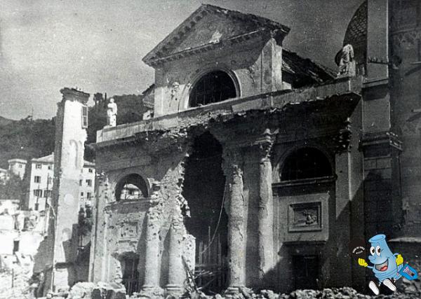 Recco distrutta dai bombardamenti