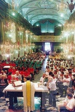 La Santa Messa di ringraziamento alla Madonna da parte dei Quartieri